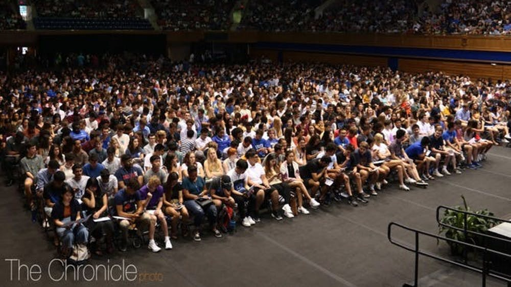 The Class of 2023 listened to President Vincent Price and others speak at their convocation ceremony earlier this semester.