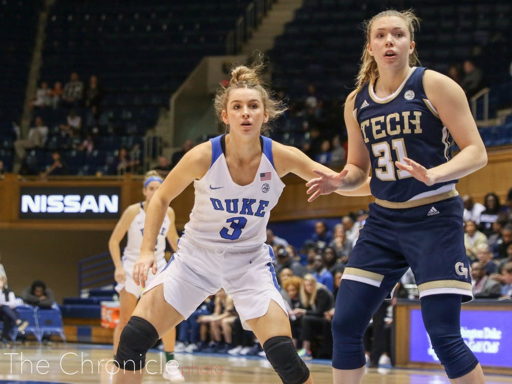Miela Goodchild's shooting from deep helped the Blue Devils space the floor and ultimately defeat the Yellow Jackets.