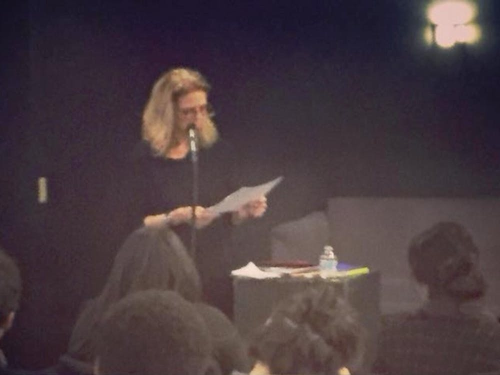Poets Elizabeth Willis and Alberto Mobilio spoke at Brody Theater Thursday as part of the English department's Blackburn Poetry Series.