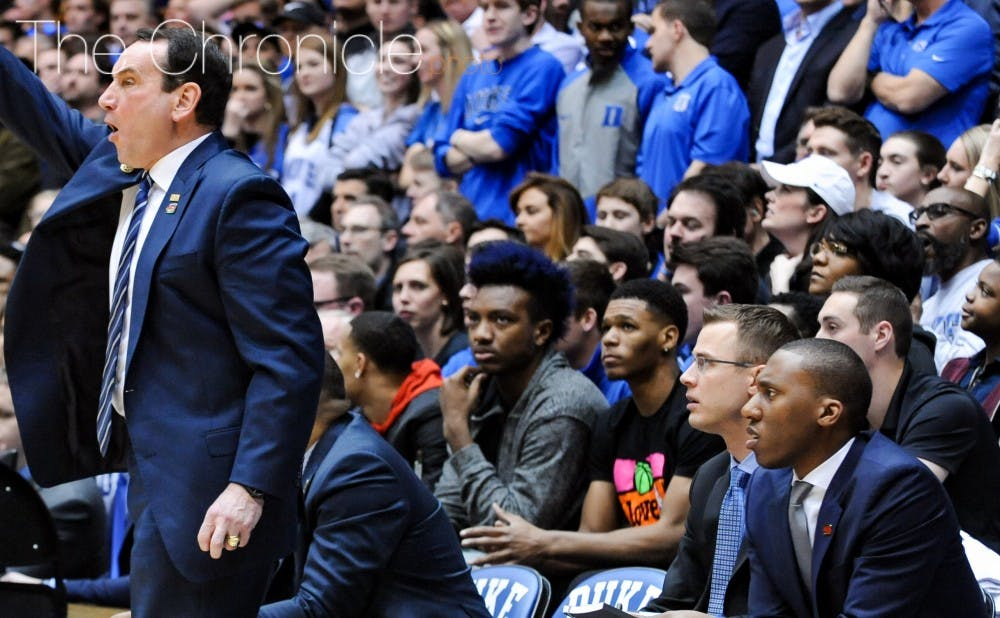 <p>Trevon Duval, the top point guard&nbsp;recruit in the Class of 2017, attended Duke's game against North Carolina in February with commits Wendell Carter and Gary Trent Jr.</p>