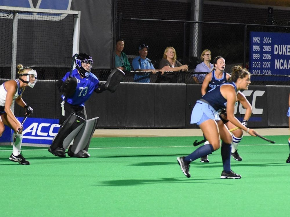 Sammi Steele is a solid presence in goal for the Blue Devils.