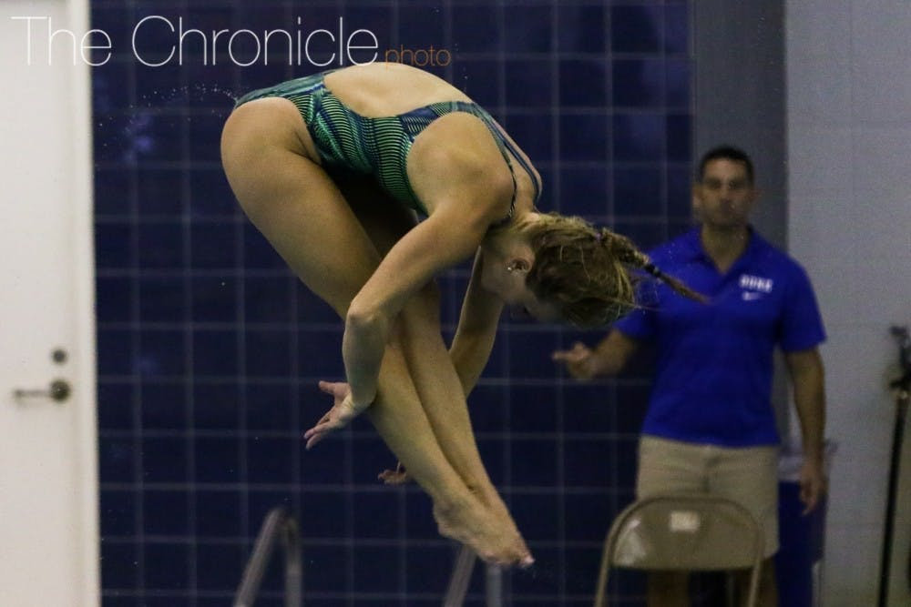 <p>Abby Johnston advanced in Friday's preliminaries and Saturday's semifinals to Sunday's final in the 3-meter individual&nbsp;diving competition. The Duke medical student was seeking her second Olympic medal, but struggled to a 12th-place finish to conclude her diving career.&nbsp;</p>