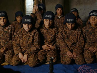 """Director Talal Derki's """"Of Fathers and Sons"""" offers insight on a family of young boys trained by their father to become jihadis."""