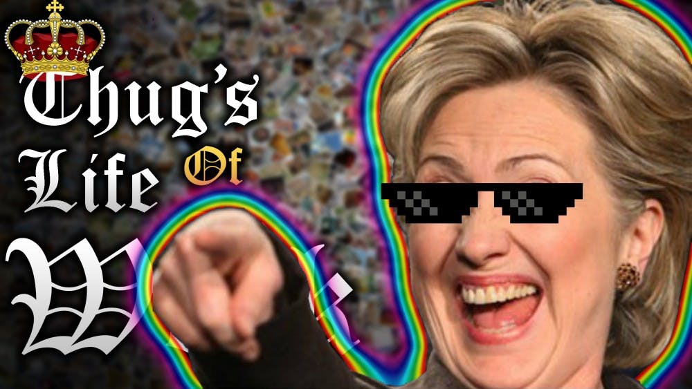 <p>Political memes like the one pictured above of Democratic presidential candidate Hillary Clinton are amusing but have potential downsides for voters and social media users alike.&nbsp;</p>