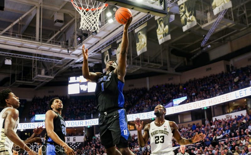Zion Williamson continued his recent stretch as Duke's go-to scorer against Wake Forest.