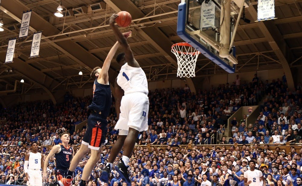 The rims in Cameron Indoor Stadium weren't the only ones subject to Zion Williamson's ferocious dunks