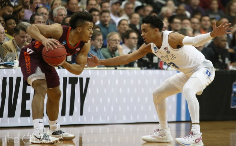 Tre Jones had a career high 22 points against Virginia Tech to help Duke earn an Elite Eight berth.