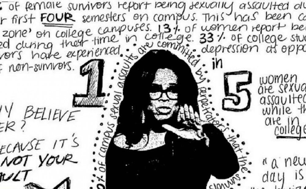 The Bridge created zines for Monday's Believe Her panel in Rubenstein Library, which addressed campus culture surrounding sexual assault.