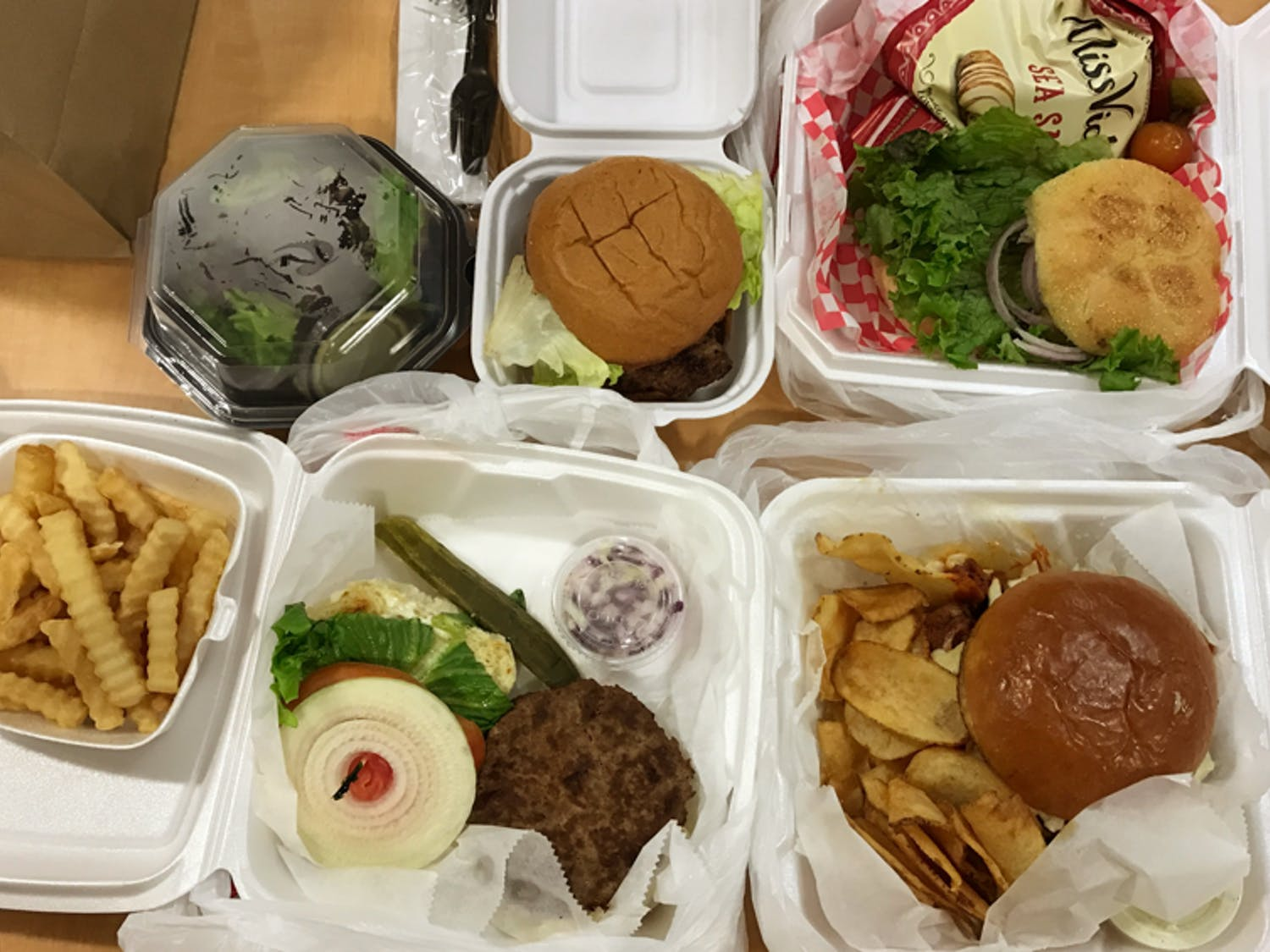 The burgers were rated on a scale of one to five based on the juiciness of the meat, flavor, bun and wow factor.