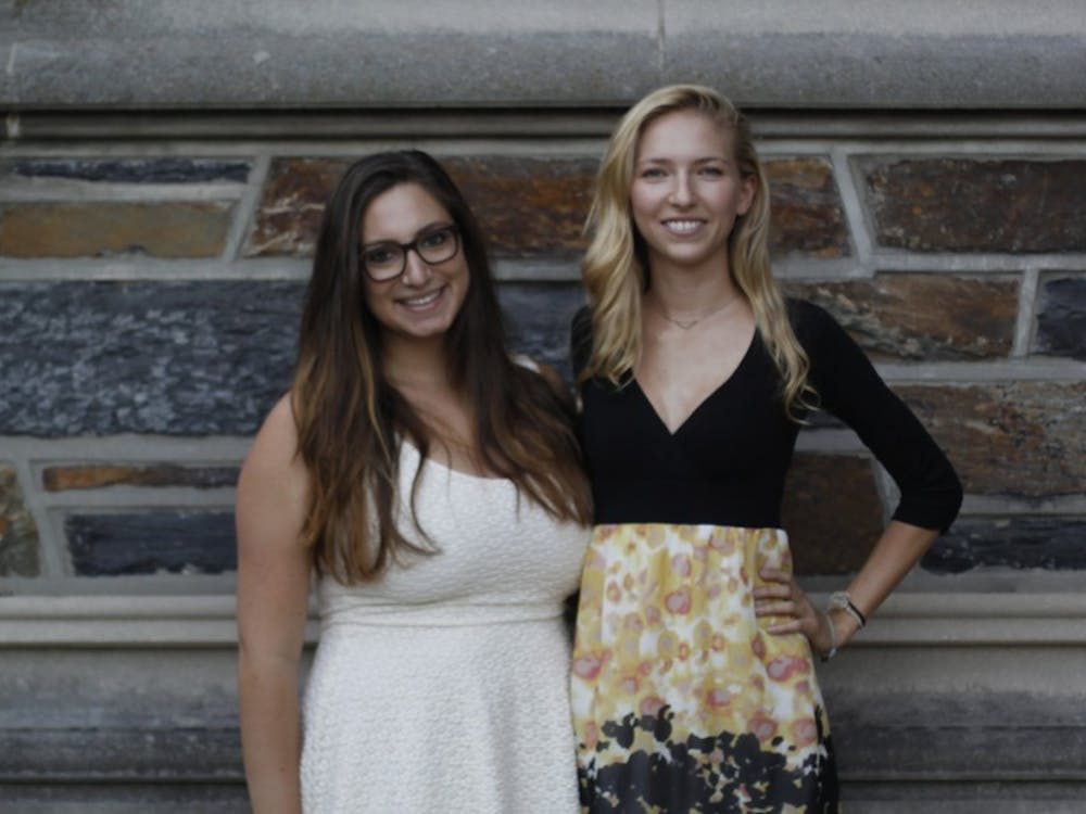 Seniors Lauren Silverstein (left) and Emily Briere (right) are representing Duke at the forefront of aerospace engineering.