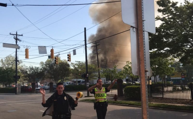 There was an explosion Wednesday in downtown Durham.