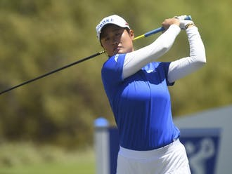 Gina Kim ended in a tie for fifth at -2 in stroke play.