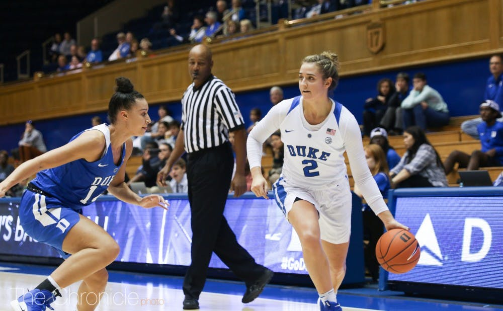 <p>Haley Gorecki scored 17 points in the first half Sunday.</p>
