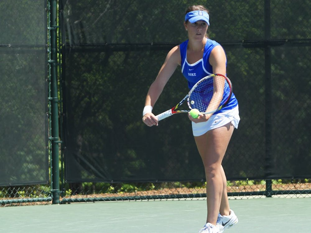 Senior Ester Goldfeld teamed up with fellow senior Annie Mulholland for the first time this fall, and the duo finished 2-0 at the Tar Heel Invitational.