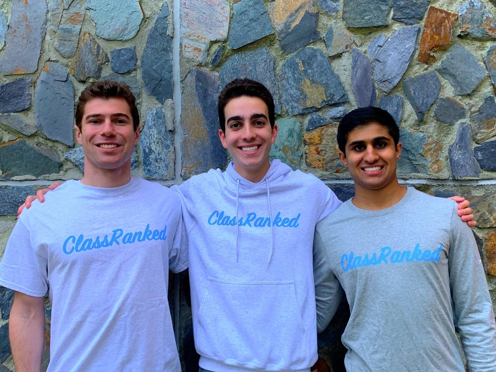 <p>The founders of ClassRanked. From left to right: Max Labaton, Hayden Hall, Dilan Trivedi</p>
