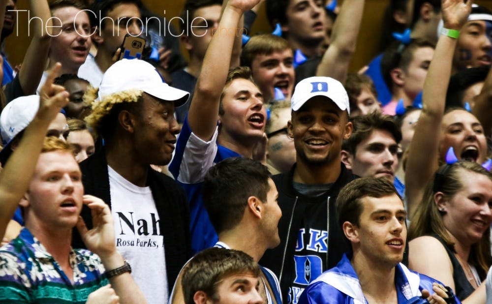 <p>Gary Trent Jr. (right) became Duke's first five-star commitment in the Class of 2017 Thursday.</p>