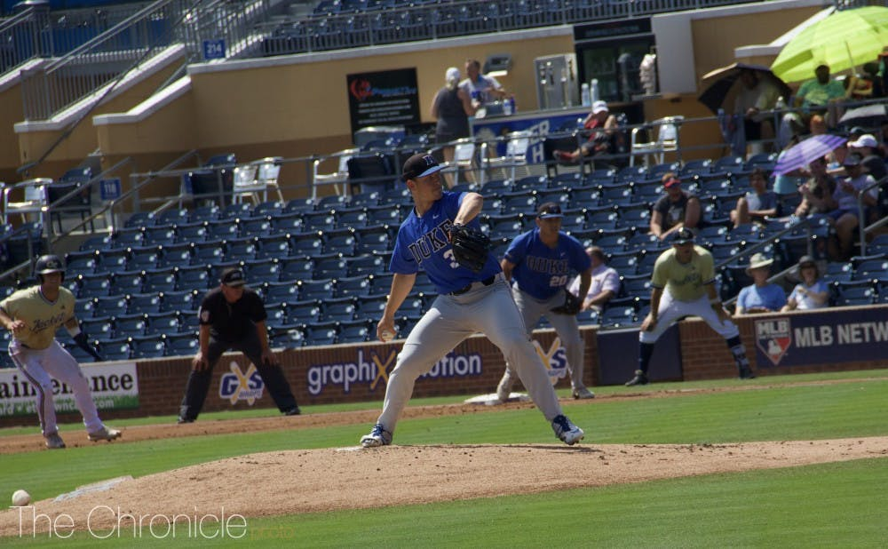 <p>Ben Gross started on the hill for Duke, and allowed four runs in five innings of work.</p>
