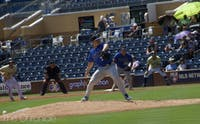 Ben Gross started on the hill for Duke, and allowed four runs in five innings of work.