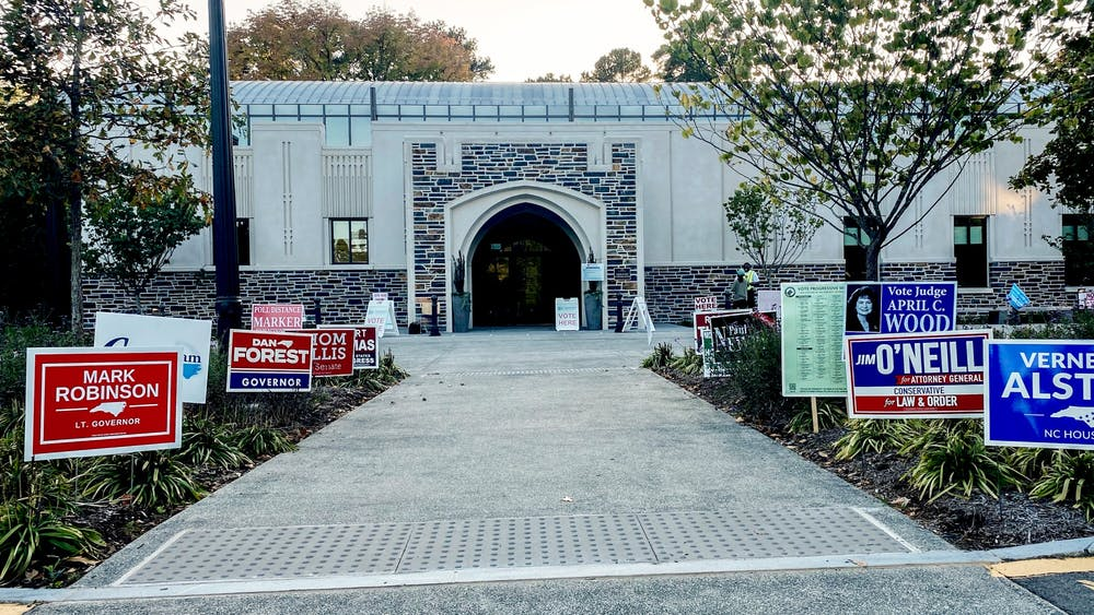 The Karsh Alumni and Visitors Center, where Duke is hosting an early voting site from Oct. 15 to 31.