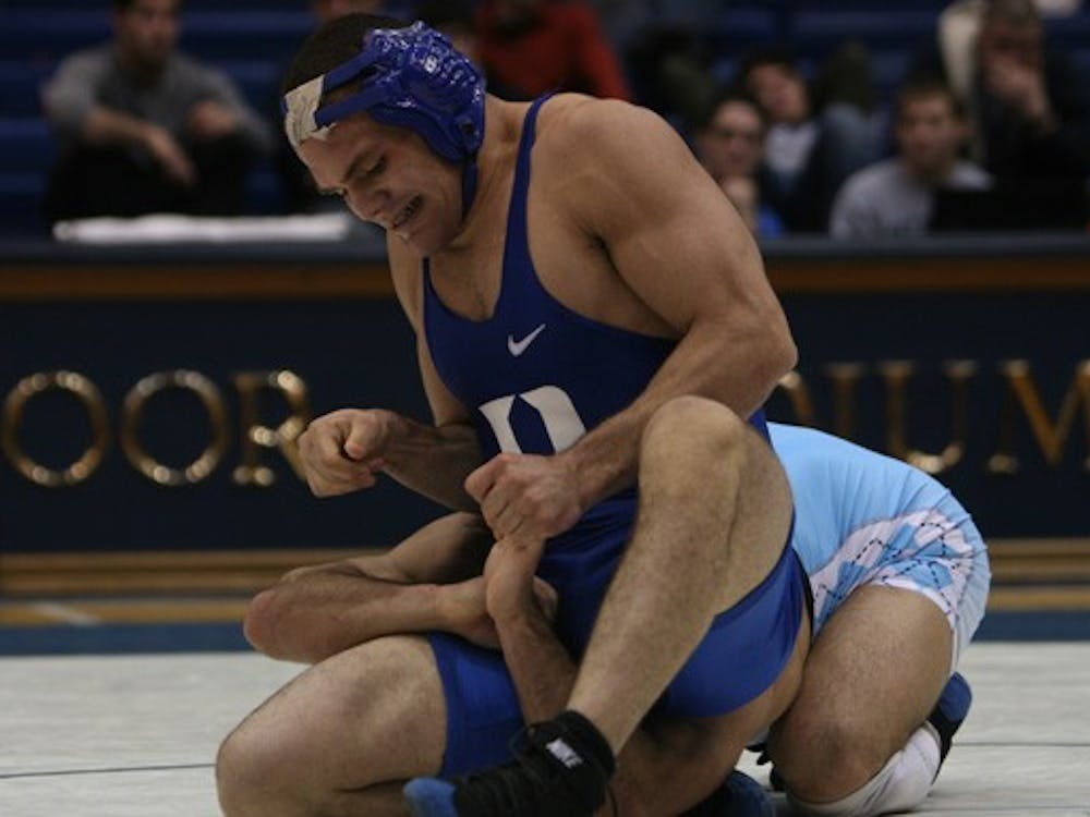 Redshirt sophomore Diego Bencomo picked up one of Duke's four match victories Thursday night, defeating his opponent 4-1.