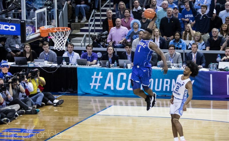 Zion Williamson will look to build off his dominant ACC tournament in the NCAA tournament this month.