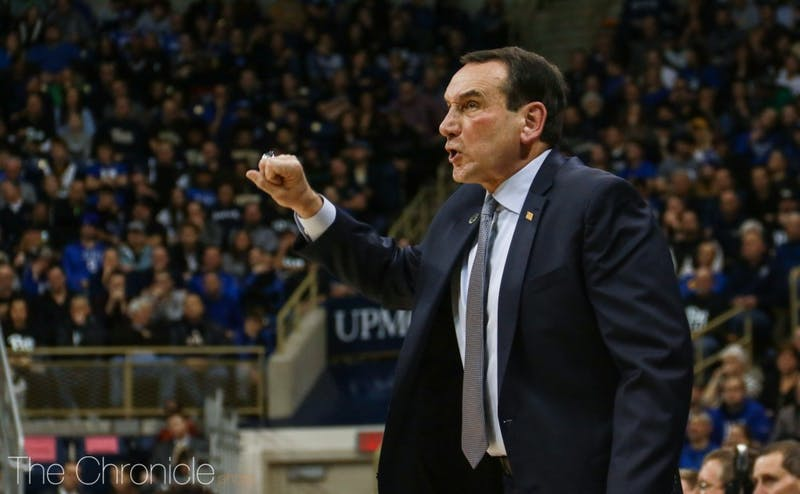 Mike Krzyzewski had few words on recent allegations of top programs giving highly-touted recruits inappropriate benefits to attend their program.