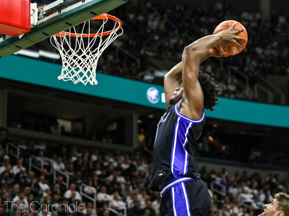<p>Vernon Carey Jr. looked unstoppable against the Spartans.</p>