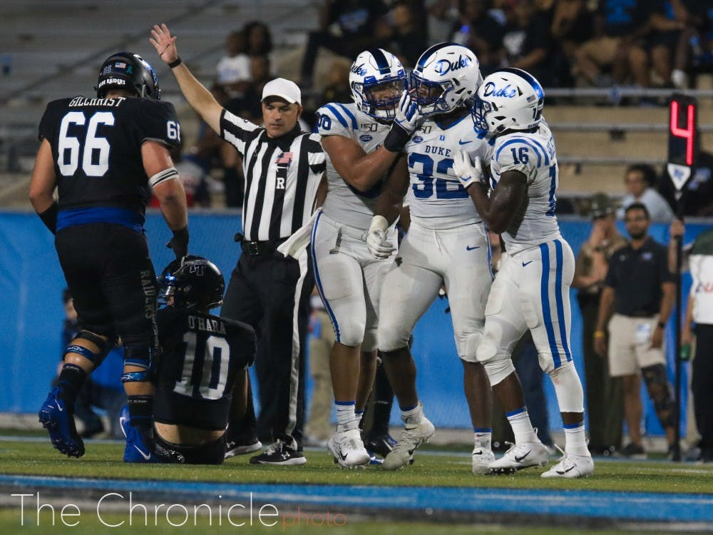 <p>Expect to see more celebrating from the Blue Devils this fall.</p>