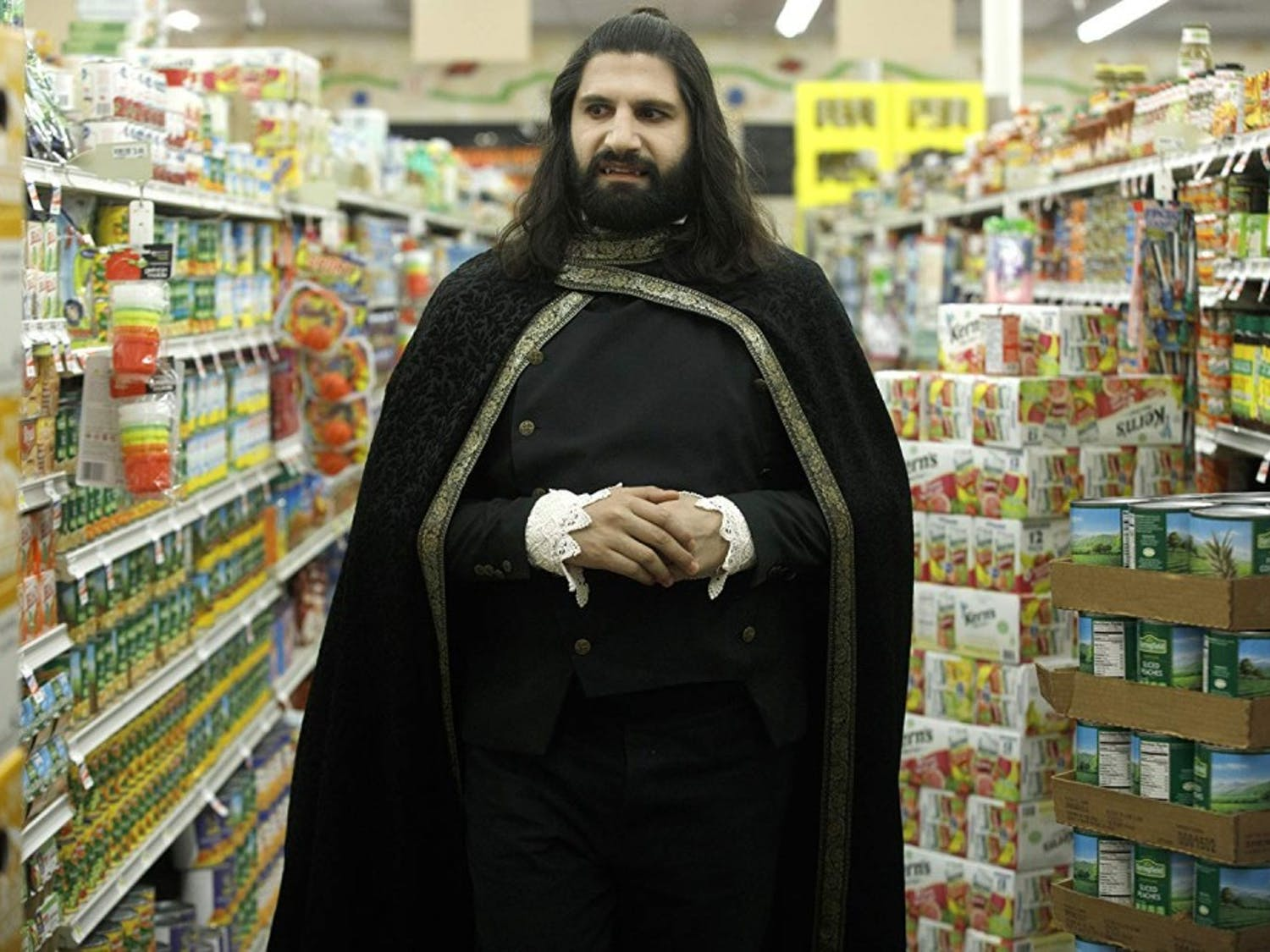 """""""What We Do in the Shadows,"""" a remake of Jemaine Clement and Taika Waititi's 2014 mockumentary film, premiered on FX March 27."""