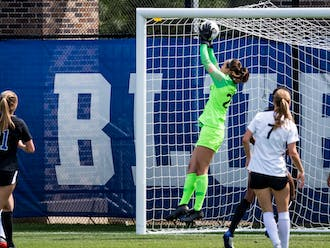 Sophomore Ruthie Jones logged two saves against Vanderbilt.