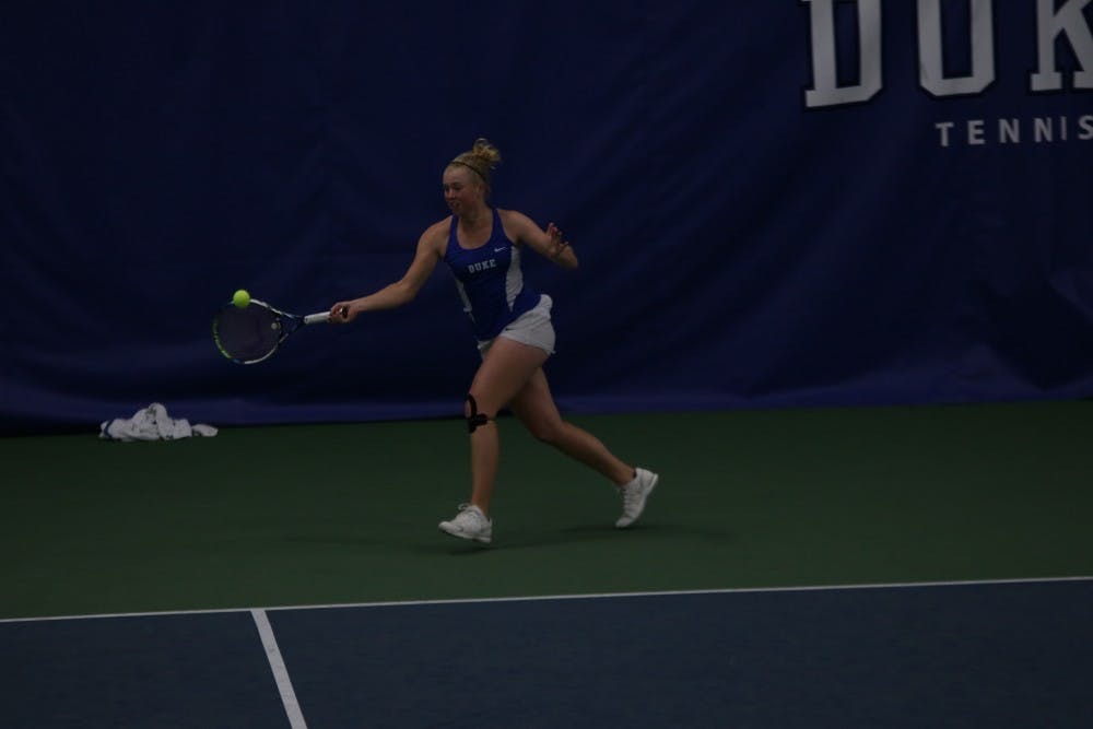 <p>Freshman Kaitlyn McCarthy dropped the first seven games of her singles match against Virginia's Julia Elbaba as the Cavaliers sent Duke home from the ACC tournament in the quarterfinals.</p>