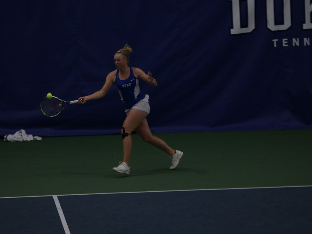 Freshman Kaitlyn McCarthy dropped the first seven games of her singles match against Virginia's Julia Elbaba as the Cavaliers sent Duke home from the ACC tournament in the quarterfinals.