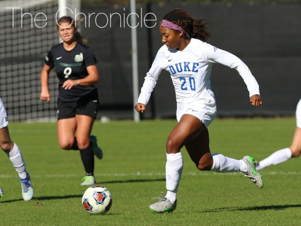 Mia Gyau's late goal secured the win for Duke.