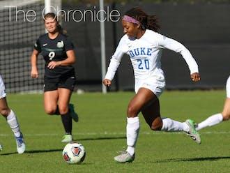 Mia Gyau's late goal secured the win for Duke.