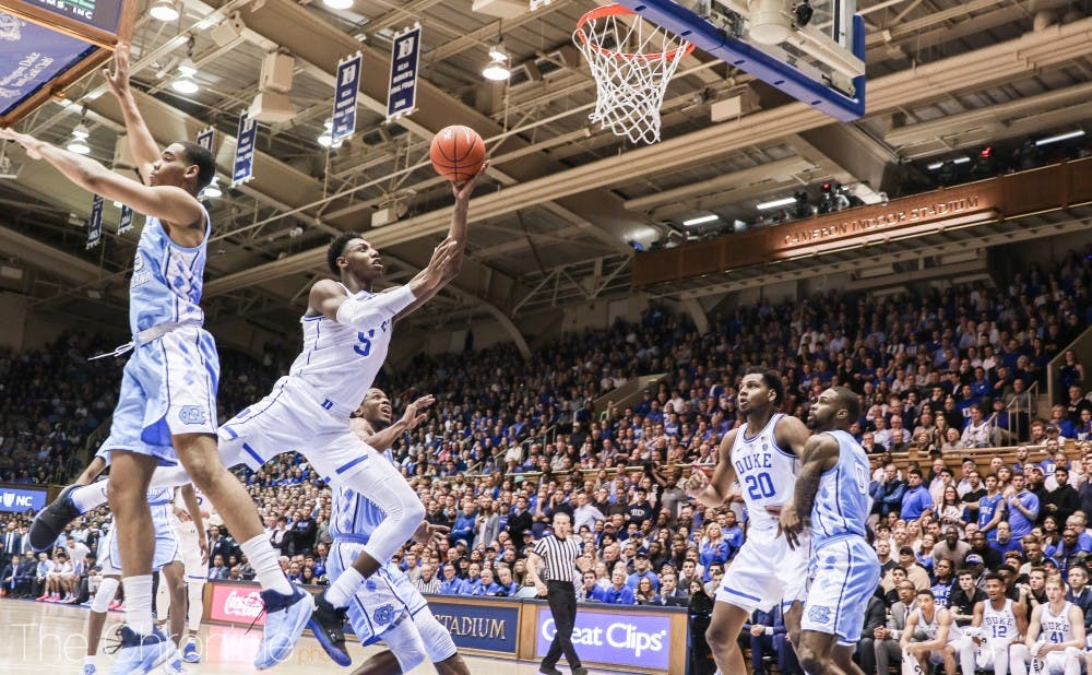 <p>A lopsided defeat to North Carolina sent Duke out of the top spot in the AP Top 25.</p>