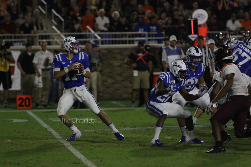 <p>If Daniel Jones can play like he did before his injury, Duke still has a chance to win the ACC Coastal Division.</p>