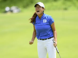 Junior Gina Kim will look to make a repeat appearance at the NCAA Championships as one of two current Duke women's golfers, along with senior Jaravee Boonchant, who were on the 2019 NCAA Championship-winning team.