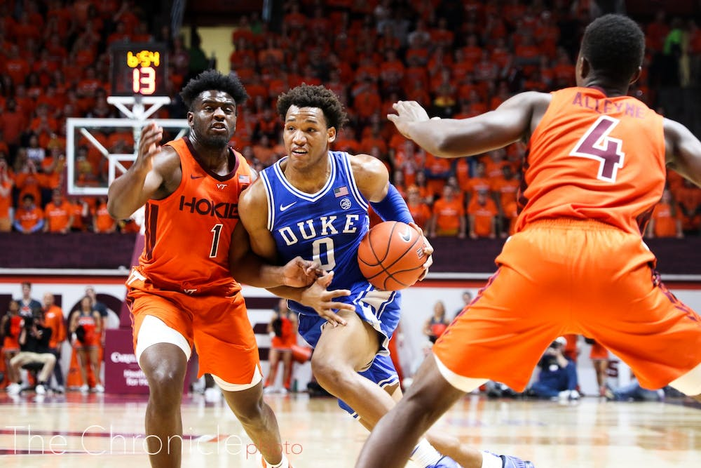 <p>Wendell Moore battled in the second half with all 12 of his points coming after the break.</p>