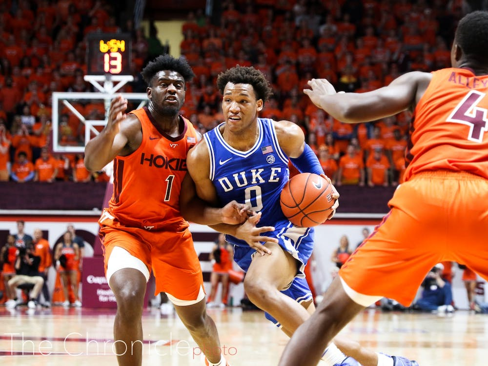 Wendell Moore battled in the second half with all 12 of his points coming after the break.