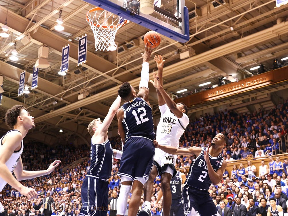 <p>The Blue Devils stifled the Demon Deacons in Duke's blowout win Saturday night.</p>