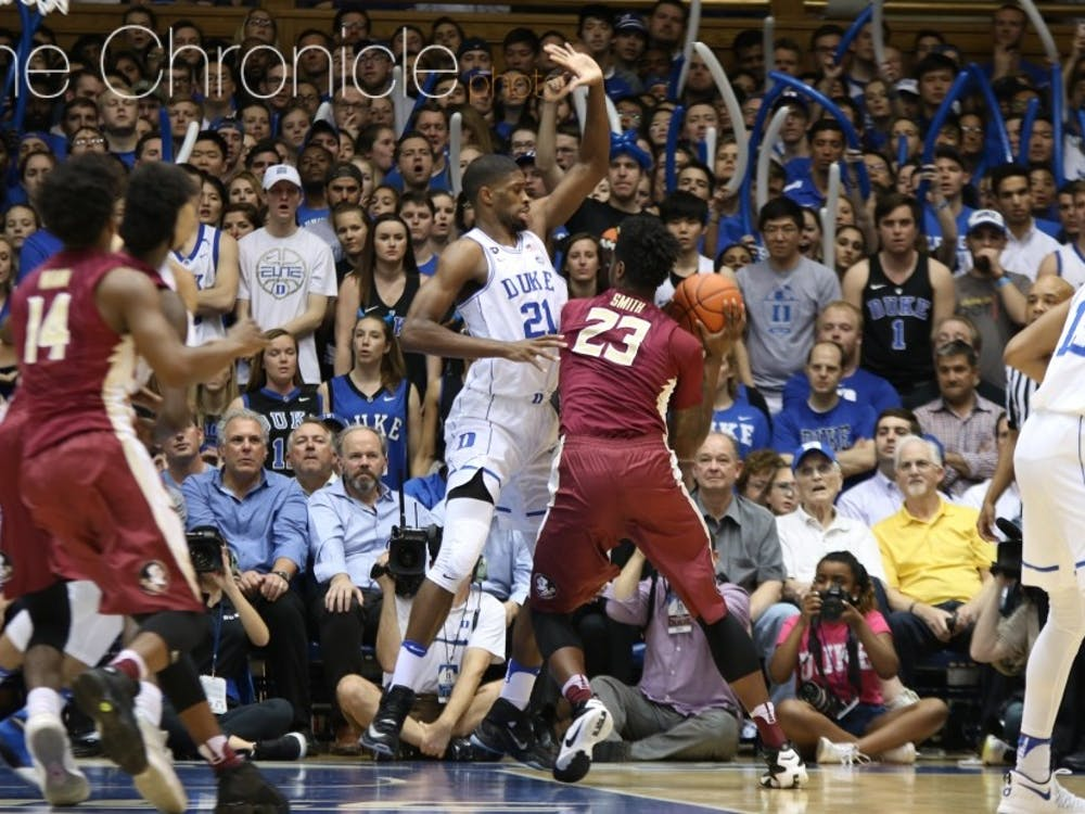 Amile Jefferson spoke of his ability to defend every position but point guard as a skill that could translate to the NBA.