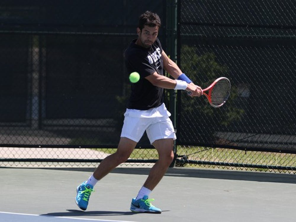 Bruno Semenzato found his footing in the second set of his singles match, but it was not enough to mount a comeback against the defending national champion Trojans.