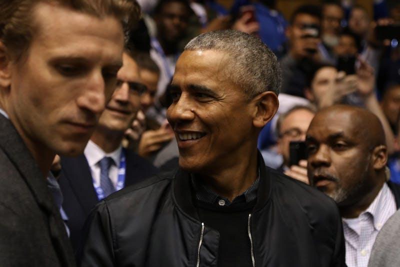 Obama came to Cameron Indoor Stadium Feb. 20 to see Duke take on North Carolina.