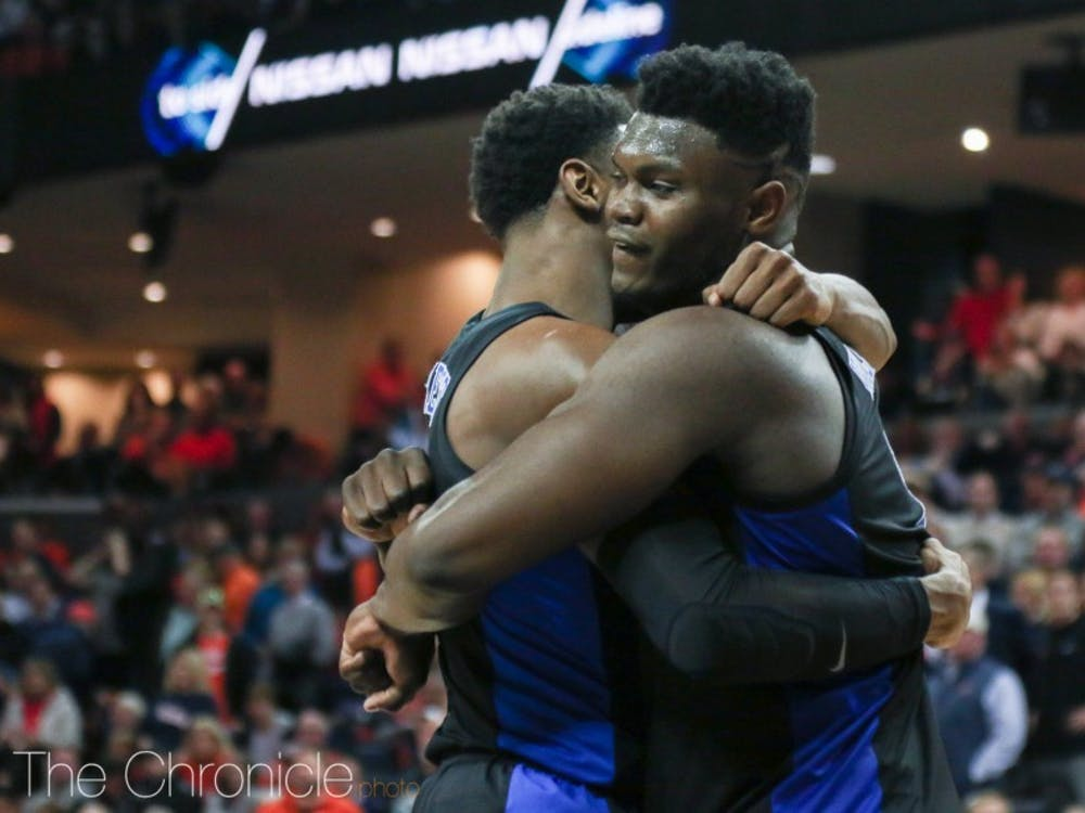 Barrett and Williamson's friendship was put on display at the 2019 NBA Draft, as they embraced each other in the same fashion as above, after Barrett was selected by the Knicks and Williamson the Pelicans.