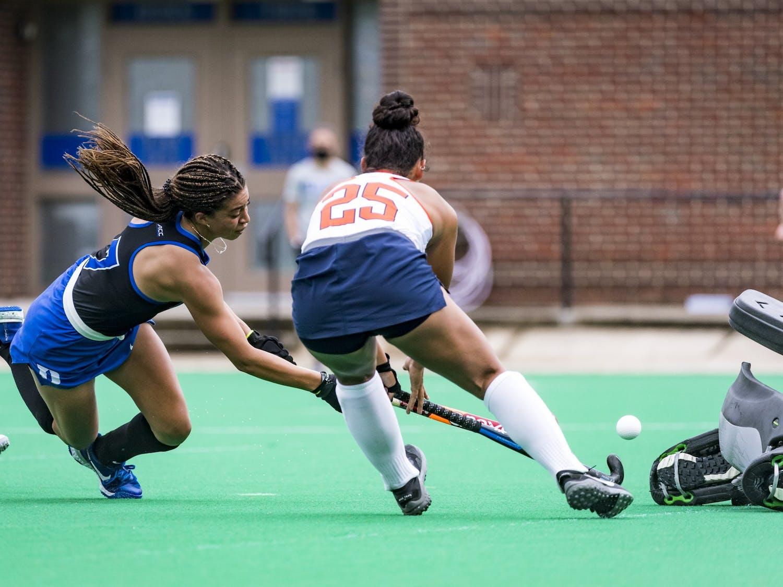 Freshman midfielder Darcy Bourne notched her seventh goal of the season Saturday.