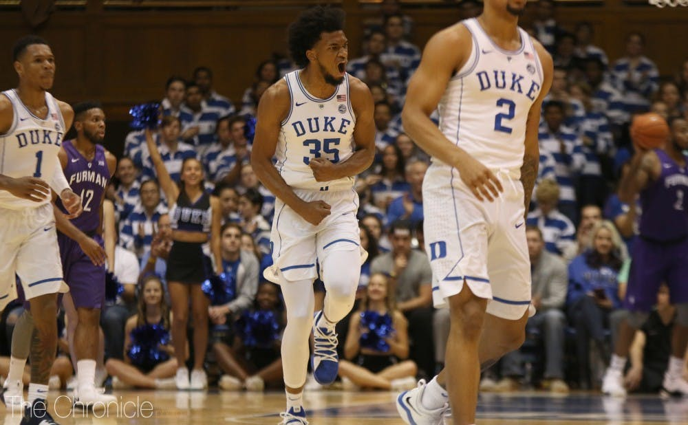 72abbbb5b494 Marvin Bagley III shines again as No. 1 Duke men s basketball routs Furman