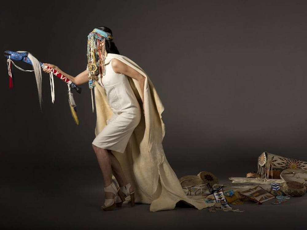 "Dana Claxton's ""Cultural Belongings"" is one of the works by Native artists highlighted in the Nasher Museum of Art's newest exhibition, on view until January 12, 2020."
