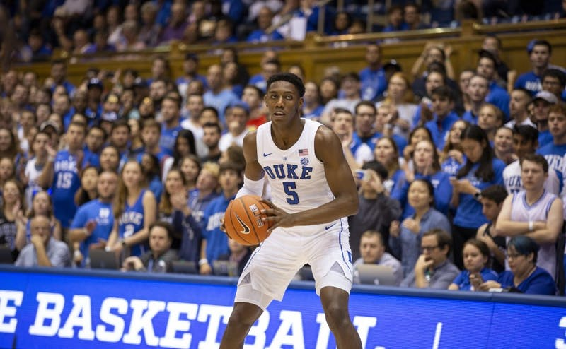 R.J. Barrett was the focal point of Duke's offense Tuesday night.