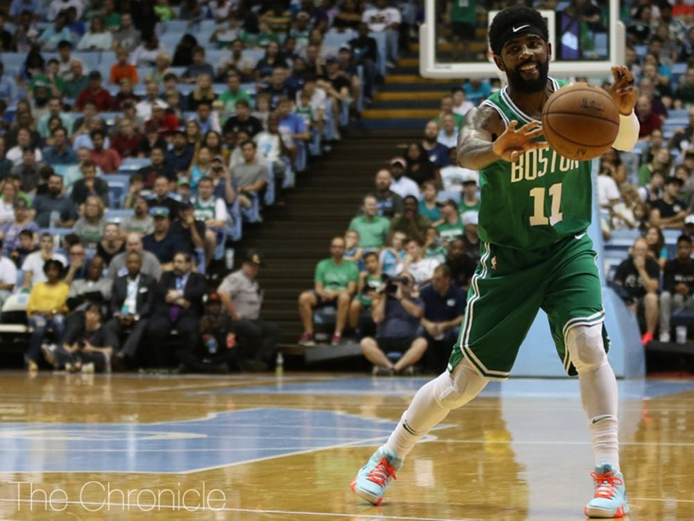 Kyrie Irving, who made headlines for admitting that Earth is in fact round, will lead a talented Celtics roster this season.