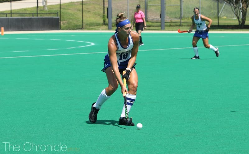 Senior Erin Scherrer scored on Senior Night for Duke.